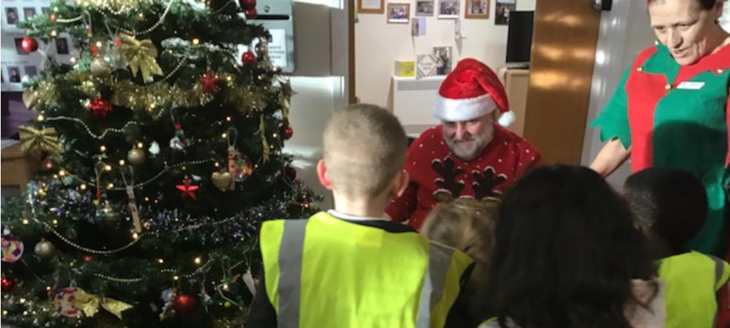 A visit from Santa at Berkley Court